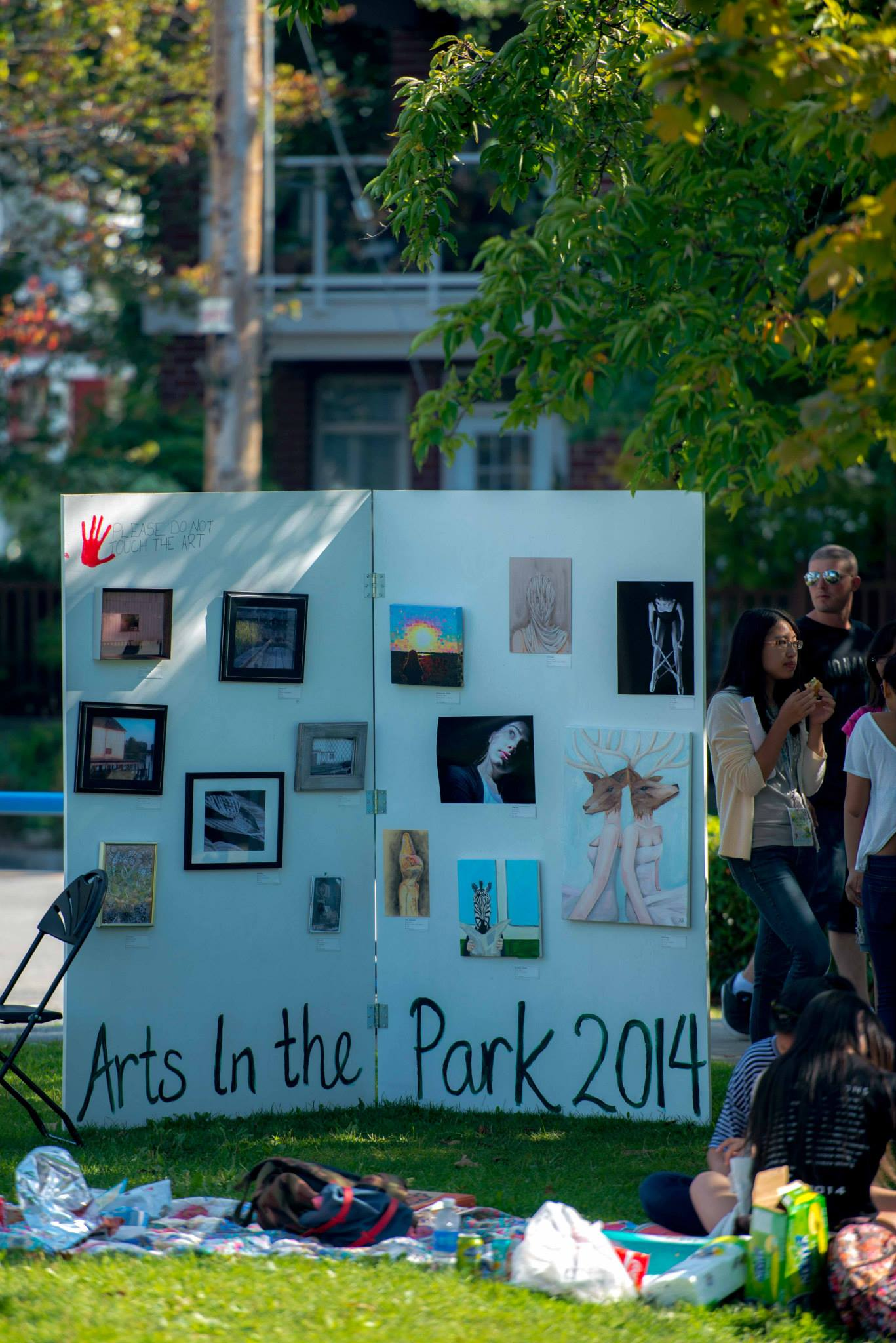 Arts in the Park 2014 Visual Arts Display curated by Emily May. (Photo by Rammy Fong)