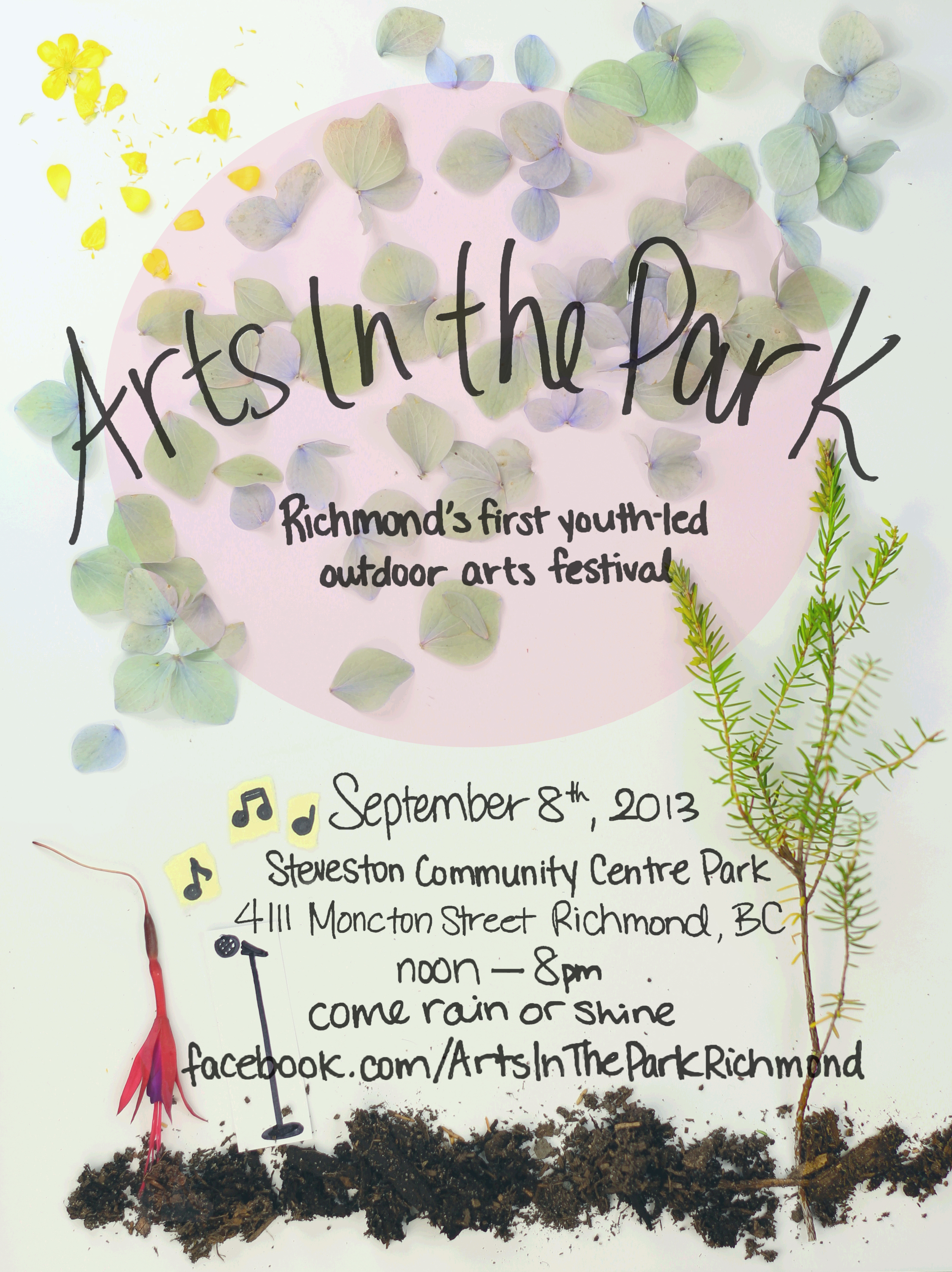 2013 Arts in the Park poster created by  Emily May