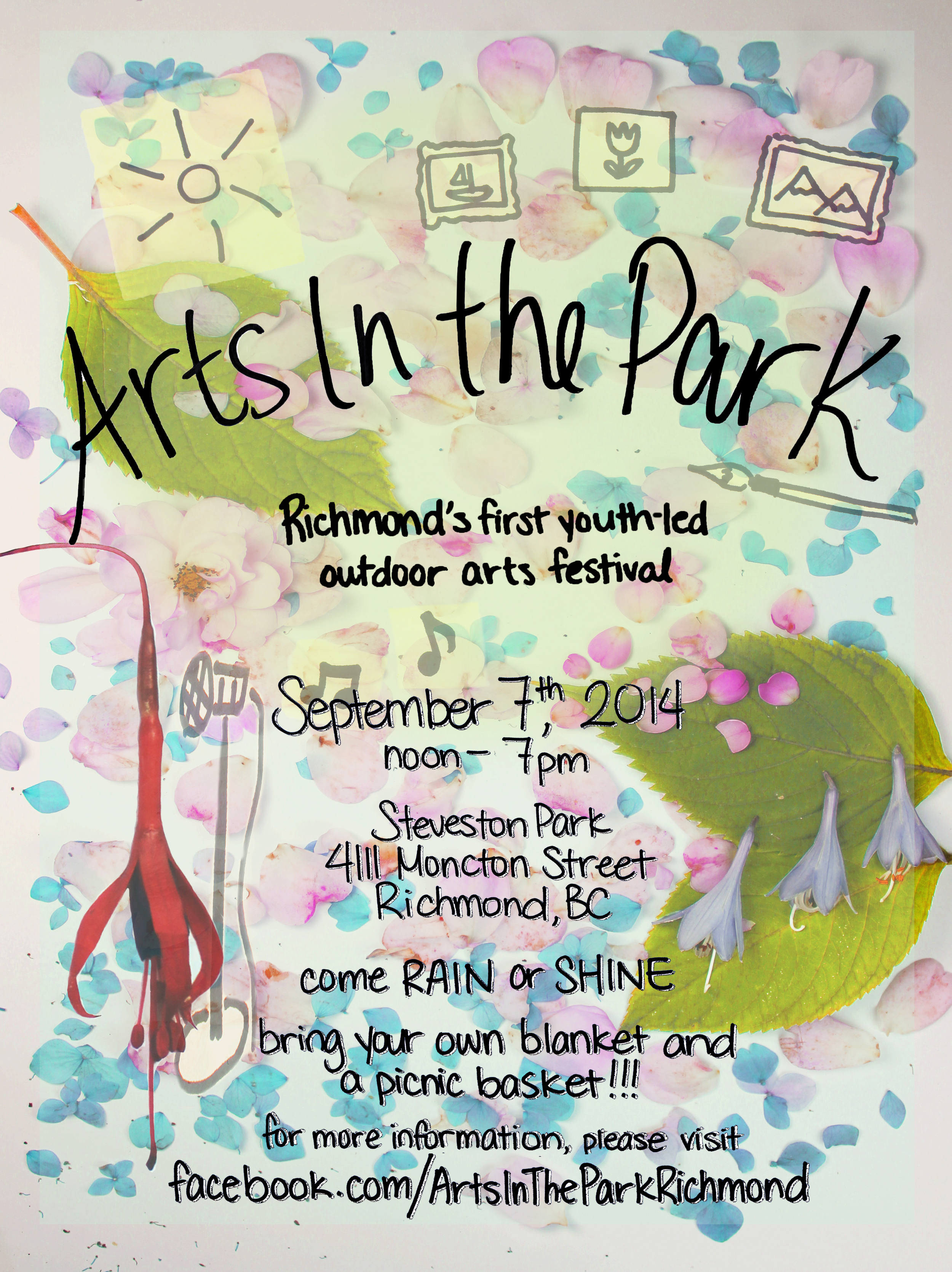 2014 Arts in the Park poster created by  Emily May