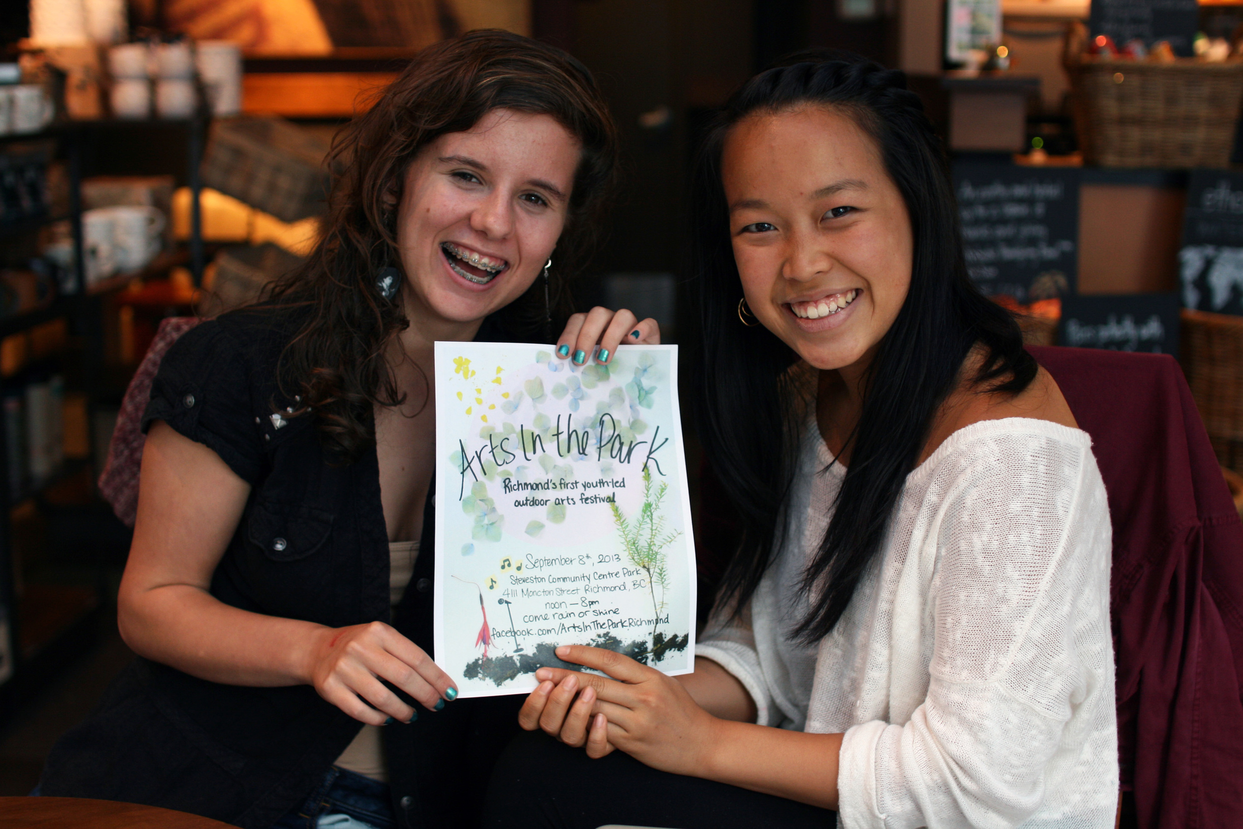 Angelica and Emily before Arts in the Park 2013. (Photo by Kayla Isomura.)