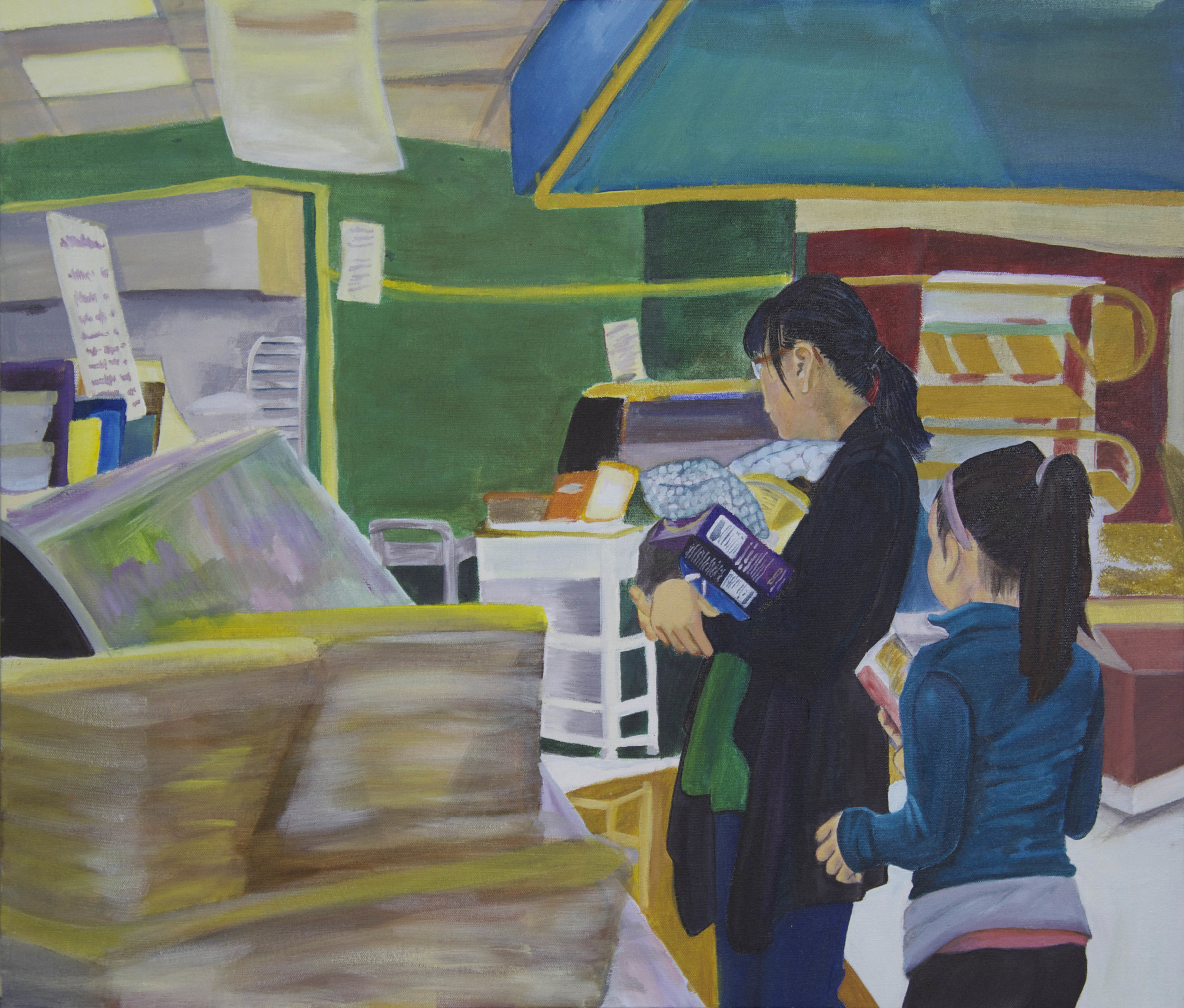Untitled (2015)  Acrylic on Canvas