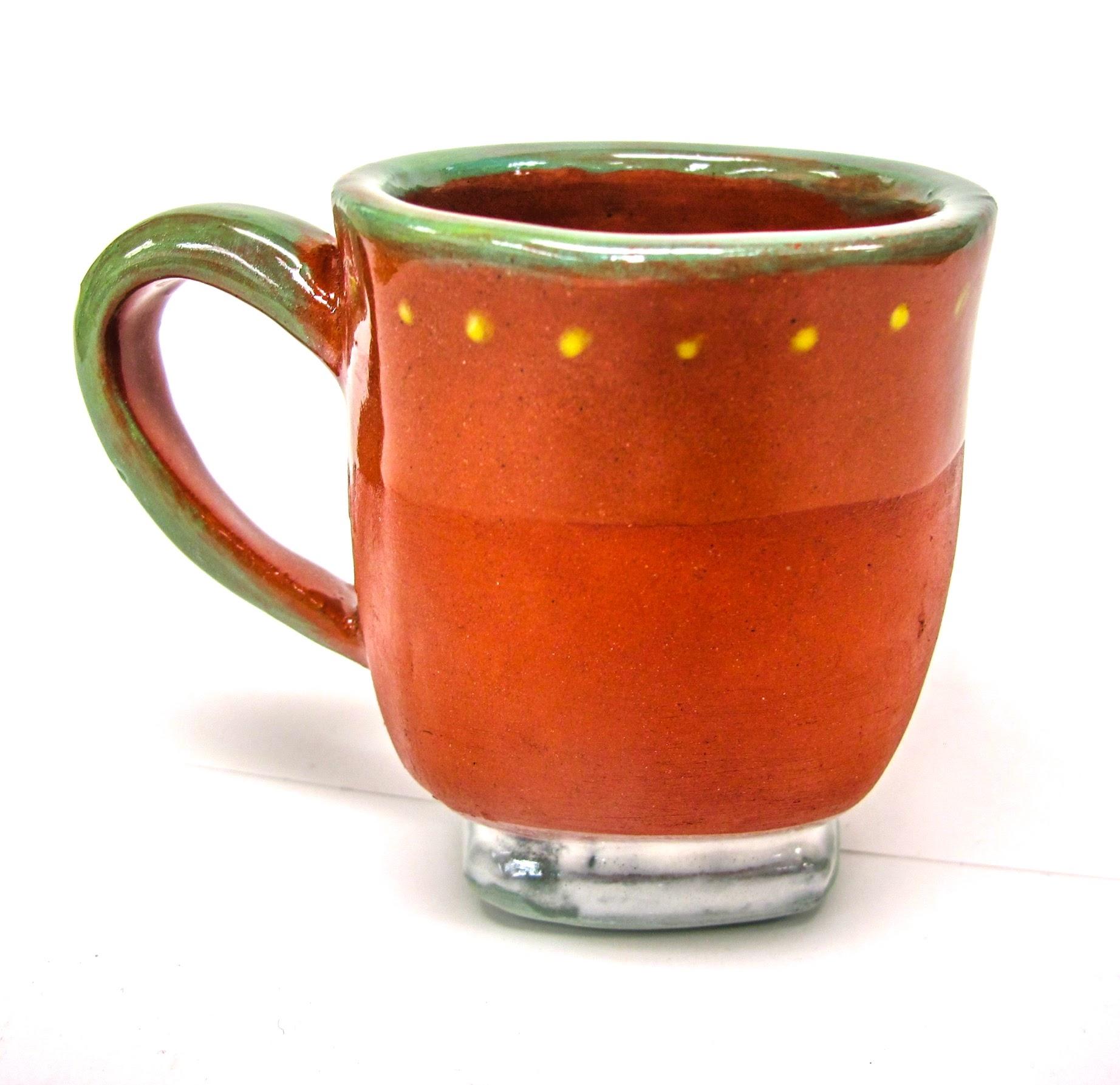 Dot-Rimmed Mug