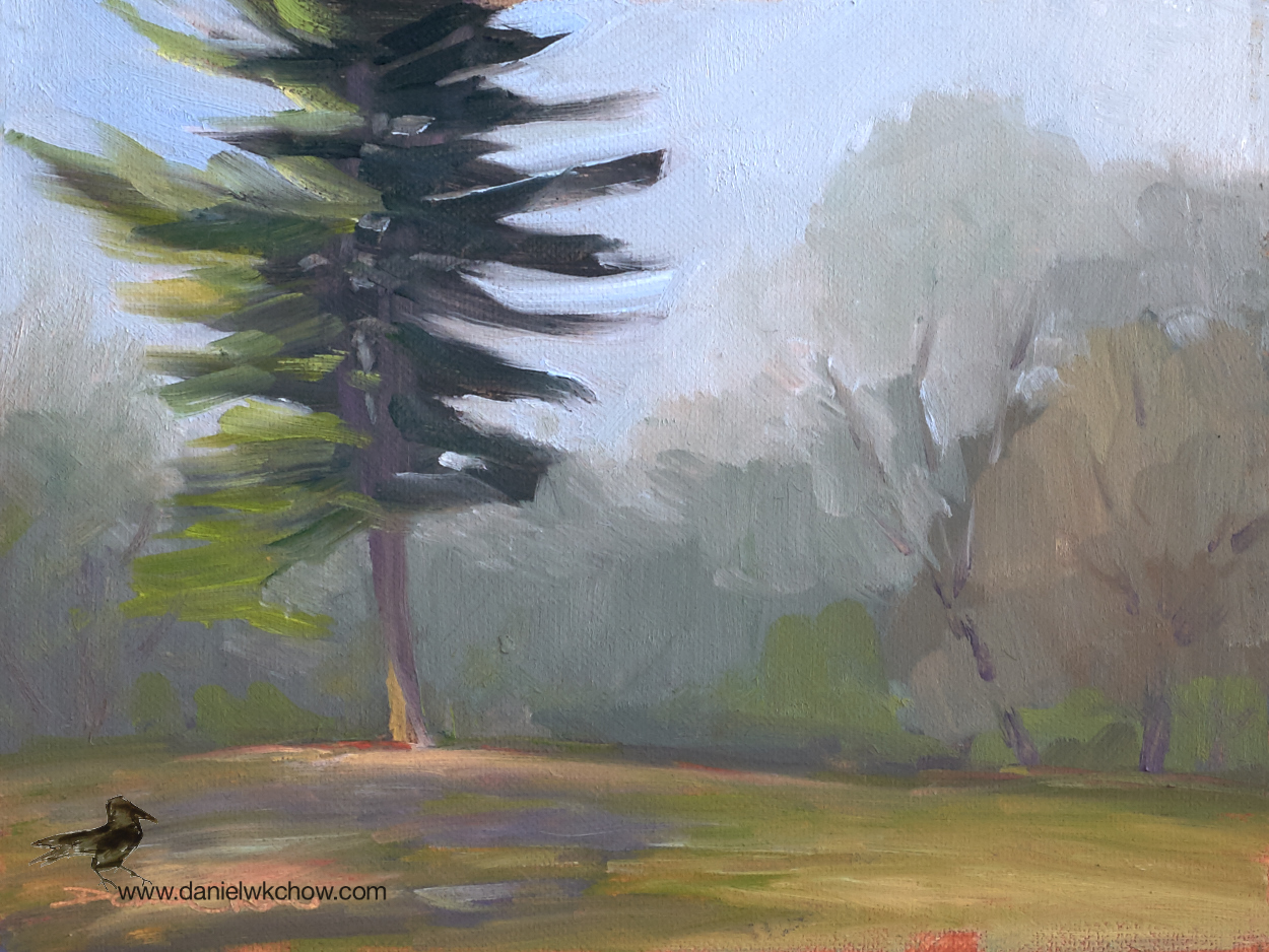 Lemon Hill, Fairmont Park, Philadelphia. Oil on cotton, 6 by 8 inches.