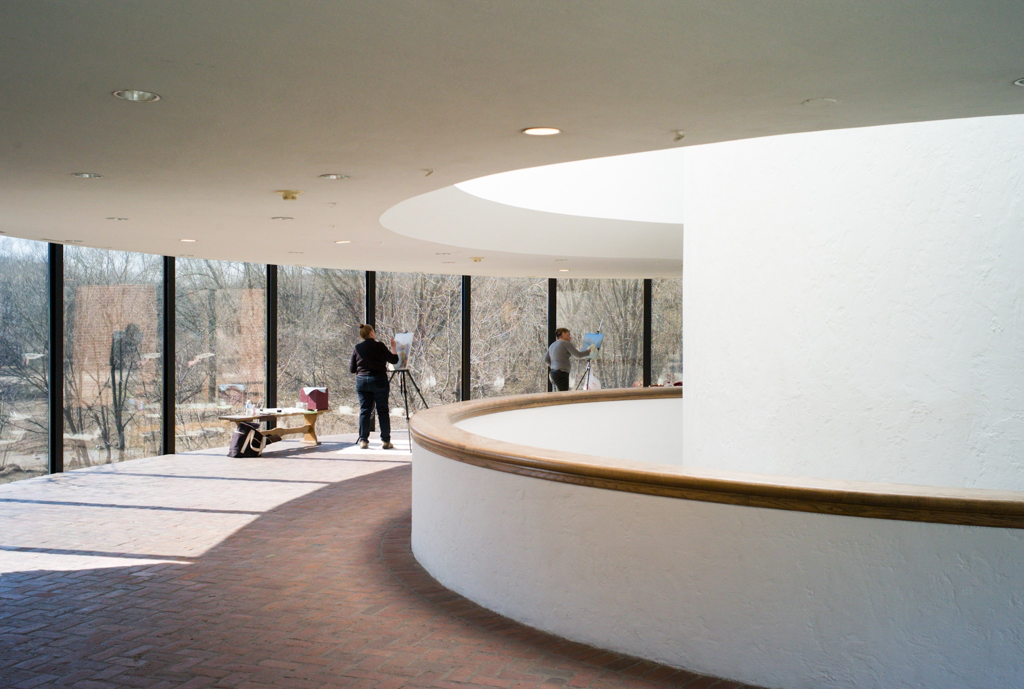 Second level of the Brandywine River Art Museum overlooking the Brandywine River.Photo by Daniel Chow
