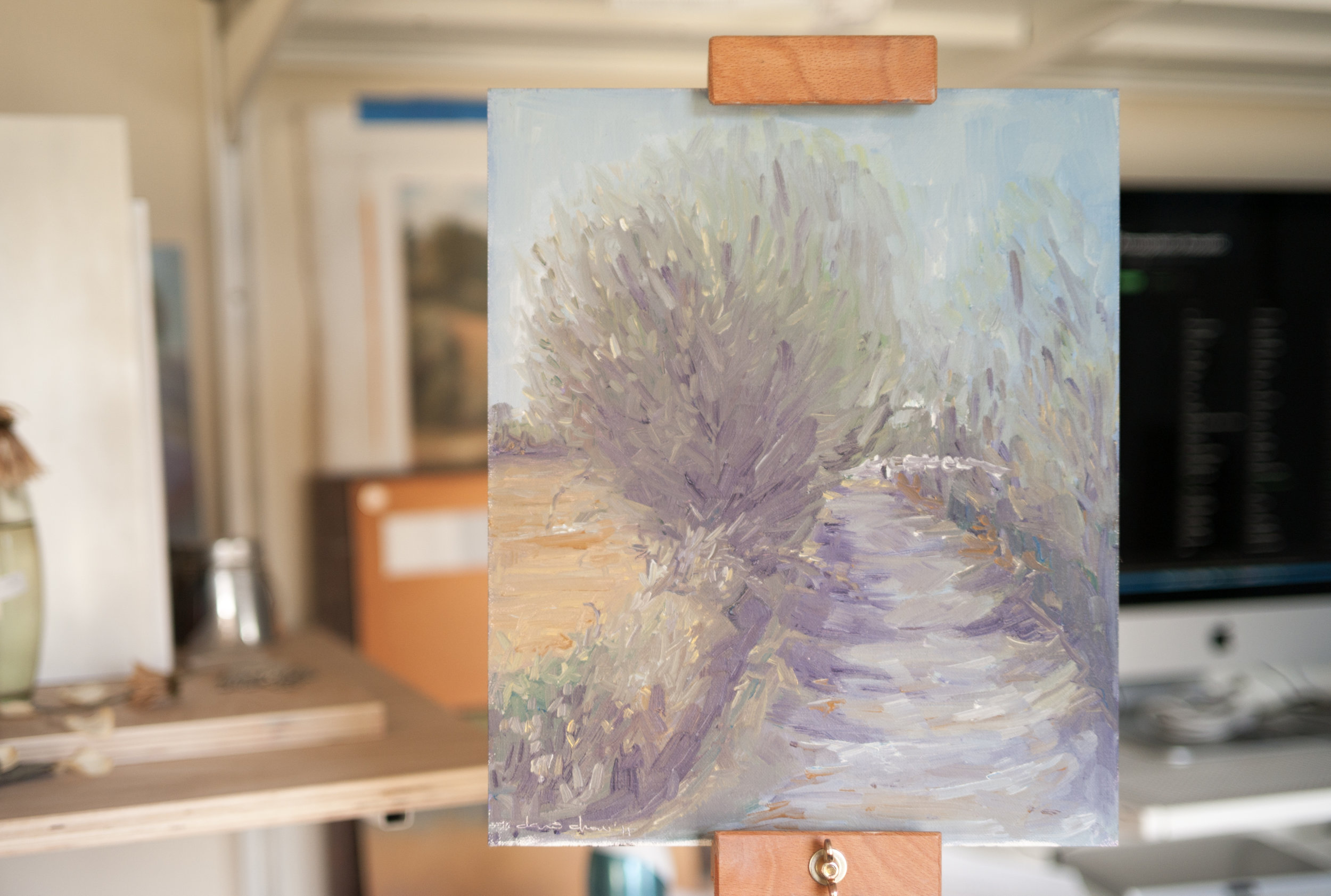 Painted over: Plein air painting from Coriano, Italy. 2011.