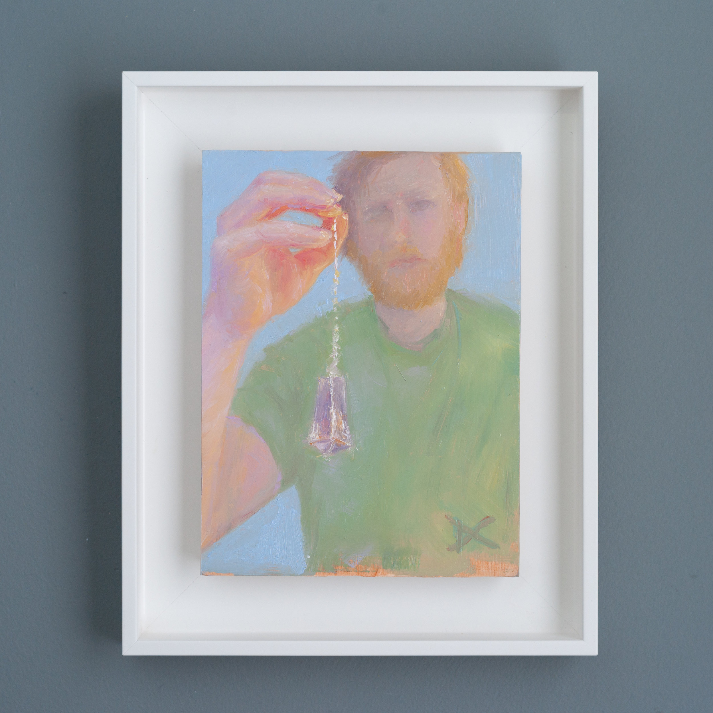 The Spiritual Dowser (Kyle Fetzer). Oil on panel, 8 by 6 inches. Private collection.