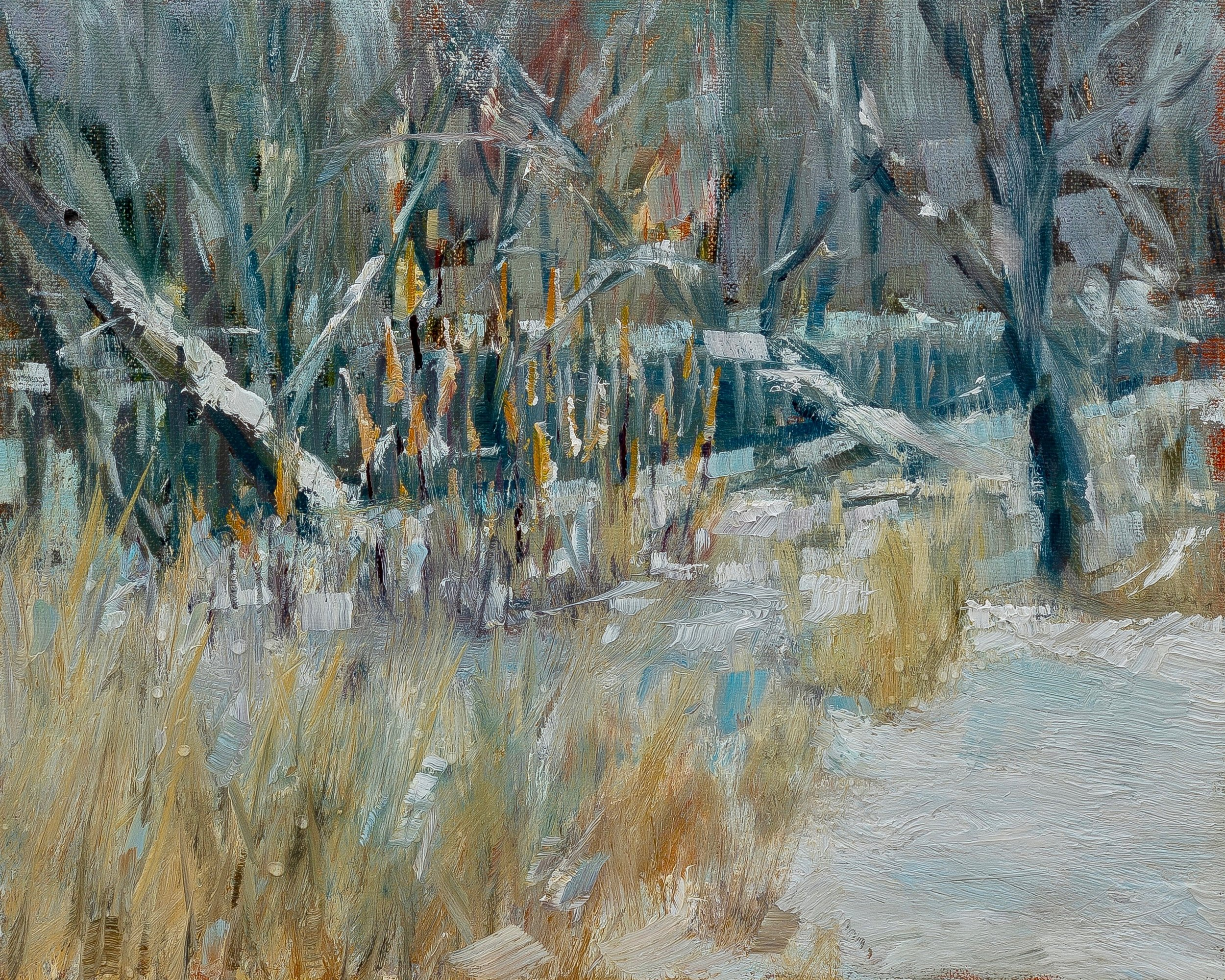 Plein air oil on panel, 8 by 10 inches