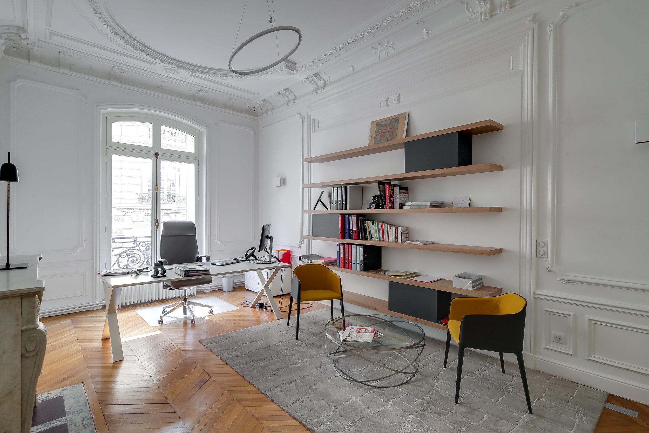 source : eliel arnold architectes d'intérieur,   bureaux rue de la grande armée