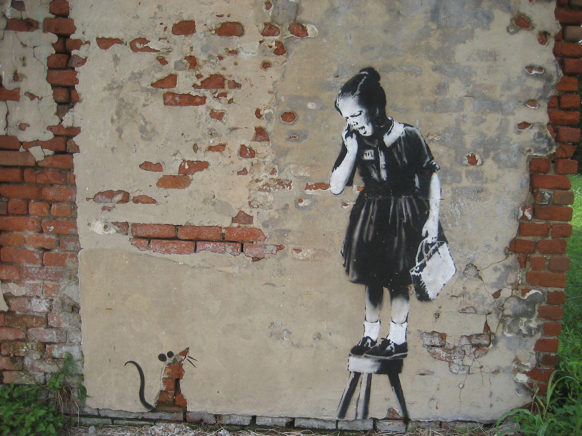 source : wikimedia commons, Graffiti de Banksy