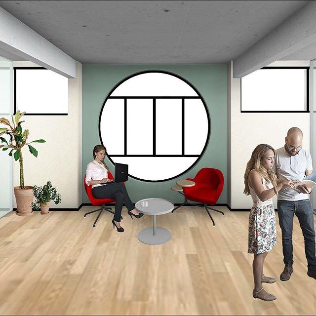 Projet en cours 🏢 Rénovation du centre d'affaires @KeymexFrance (Pierrefitte-sur-Seine)!  Cet ancien showroom de produits de peinture sera bientôt transformé en espace de coworking des métiers de l'immobilier : agents, diagnostiqueurs, géomètres, architectes et architectes d'intérieurs travailleront ici ensemble sur plus de 1000 m².  Ce bâtiment possède des qualités architecturales que nous souhaitons mettre en valeur dans ce projet : des espaces verts généreux qui font le tour de l'édifice, de grands volumes intérieurs éclairés par la lumière naturelle, un escalier monumental et une inspiration japonaise et moderniste pour le dessin des façades.  #architecte #architecteinterieur #architectedinterieur #ecologie #qualite #bienetre #bureau #coworking #bureaudesign #espacedetravail