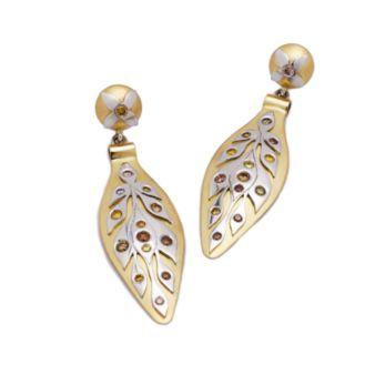 Platinum overlay earrings