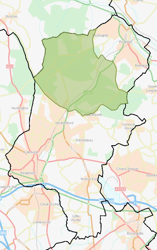 Cannock Chase District and Brindley Heath Parish (Ref: E04008871)