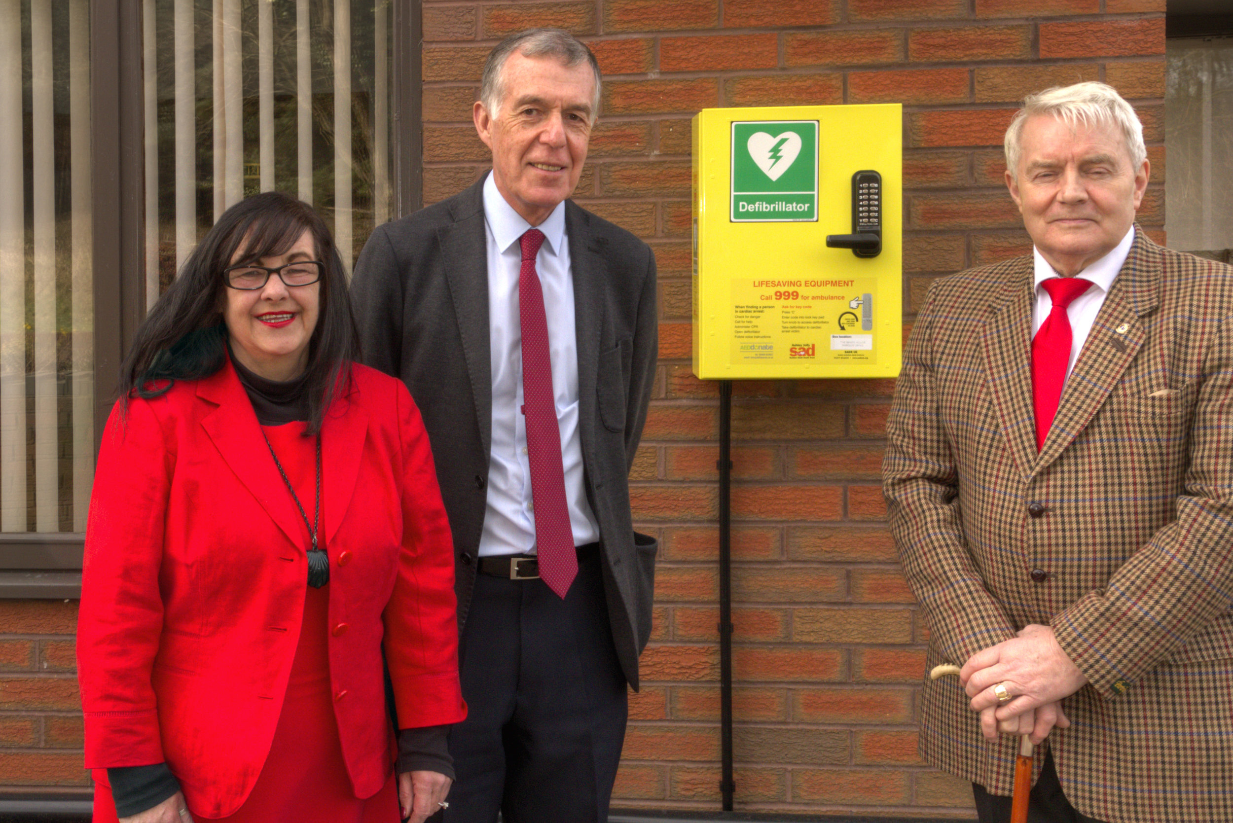 From left to right: County Councillor Mrs Christine Mitchell, County Councillor George Adamson and District and Parish Councillor Alan Pearson