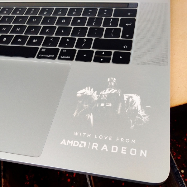Laser engraving MacBook