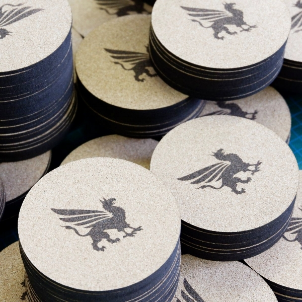 Promotional product - Laser engraved coasters