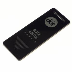 3mm black acrylic - laser cut - laser engraved - Dot Laser sample.JPG