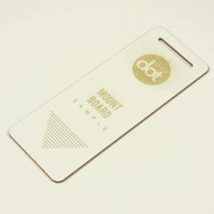 white mount board - laser cut - laser engraved - Dot Laser sample.JPG