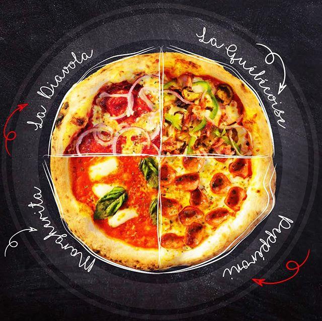 Freshly made to your taste... featuring La Québécoise, La Diavola, Péppéroni and the ever famous Margherita...#4piatti #4piattipizza #pizza #mtlpizza #pizzafestmtl #pizzeriamtl