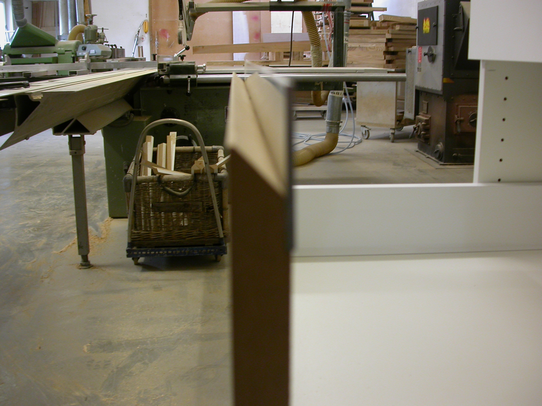 Detail der Griffleisten in der Werkstatt.