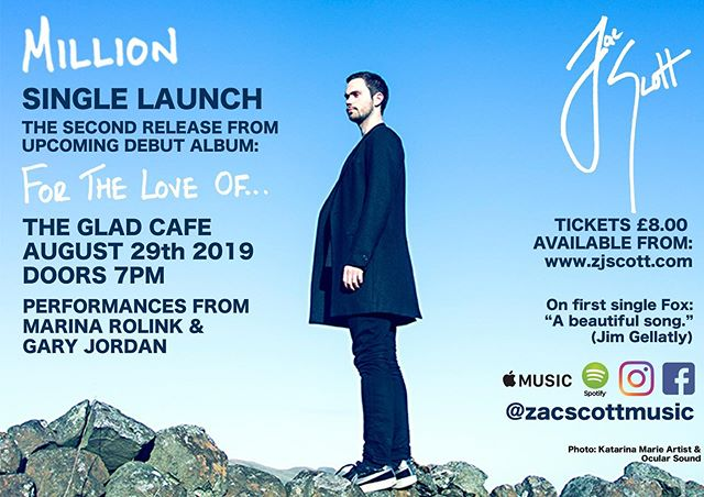 Back in Glasgow, straight back to it - with a mountain of things to catch up on after being close by the very beautiful Icelandic mountains and far from phone signal, the first port of call is this: Million Single Launch at the end of this month! As well as fantastic support from @marinarolink and @gazzajdawg I am delighted to also welcome an extremely talented bunch of musicians - @gudrunsoleysig @cameron_drums @thomasbrumbymusic @sarahmcwib and more - to play throughout my set. For more information and tickets, click on the link my bio! 〽️🙌🏴🇮🇸🎵🎤🎻🎹 #singer #songwriter #newmusic #iceland #single #launch #scotland #music #strings #million