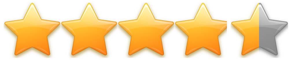 4.5/5 Stars