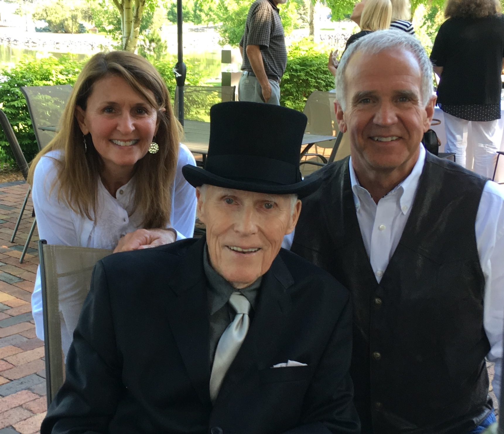 The always dapper Frank Farrar with Suzie and me at the Governor's Breakfast before the TOG unveiling.