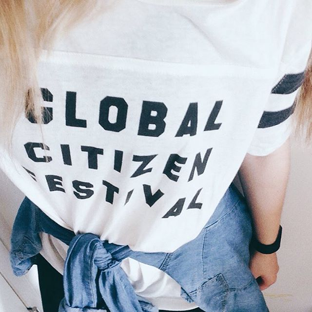#ootd reminiscing one of the best nights of my life • Of course the music + talent were incredible, though @glblctzn 's fervent message to take action in global goals was inspiring to experience first hand. We all live in our own little worlds but cannot forget that we live together in one world - and we need to treat our humanity + preservation of Earth our priority • 🌎• #GlobalCitizenFestival •