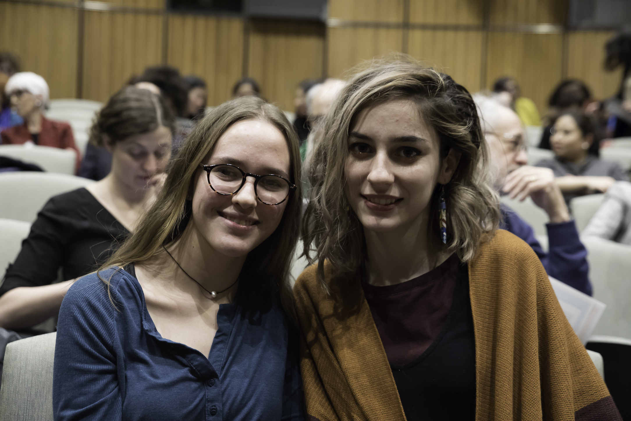 Cassandra Stavens (left) and Madeline Schmidt (right), members of the New York Philharmonic Very Young Composers program