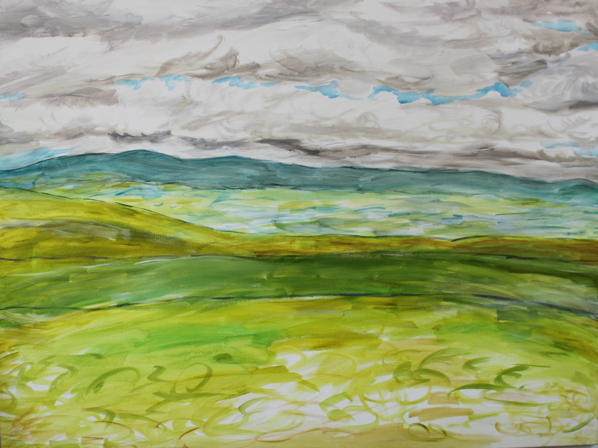Plains,  Angela Matsuoka    Acrylic on Canvas