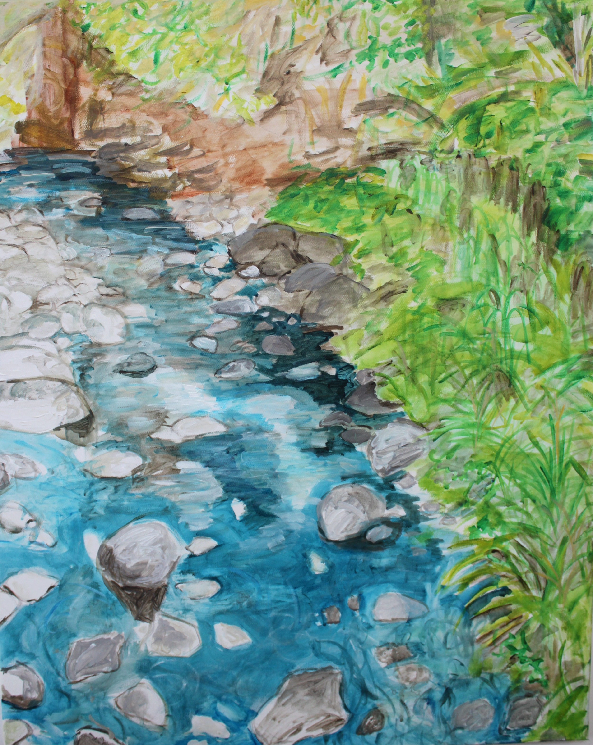 "Waterway,  Angela Matsuoka    Acrylic on Canvas, 24""x30"""