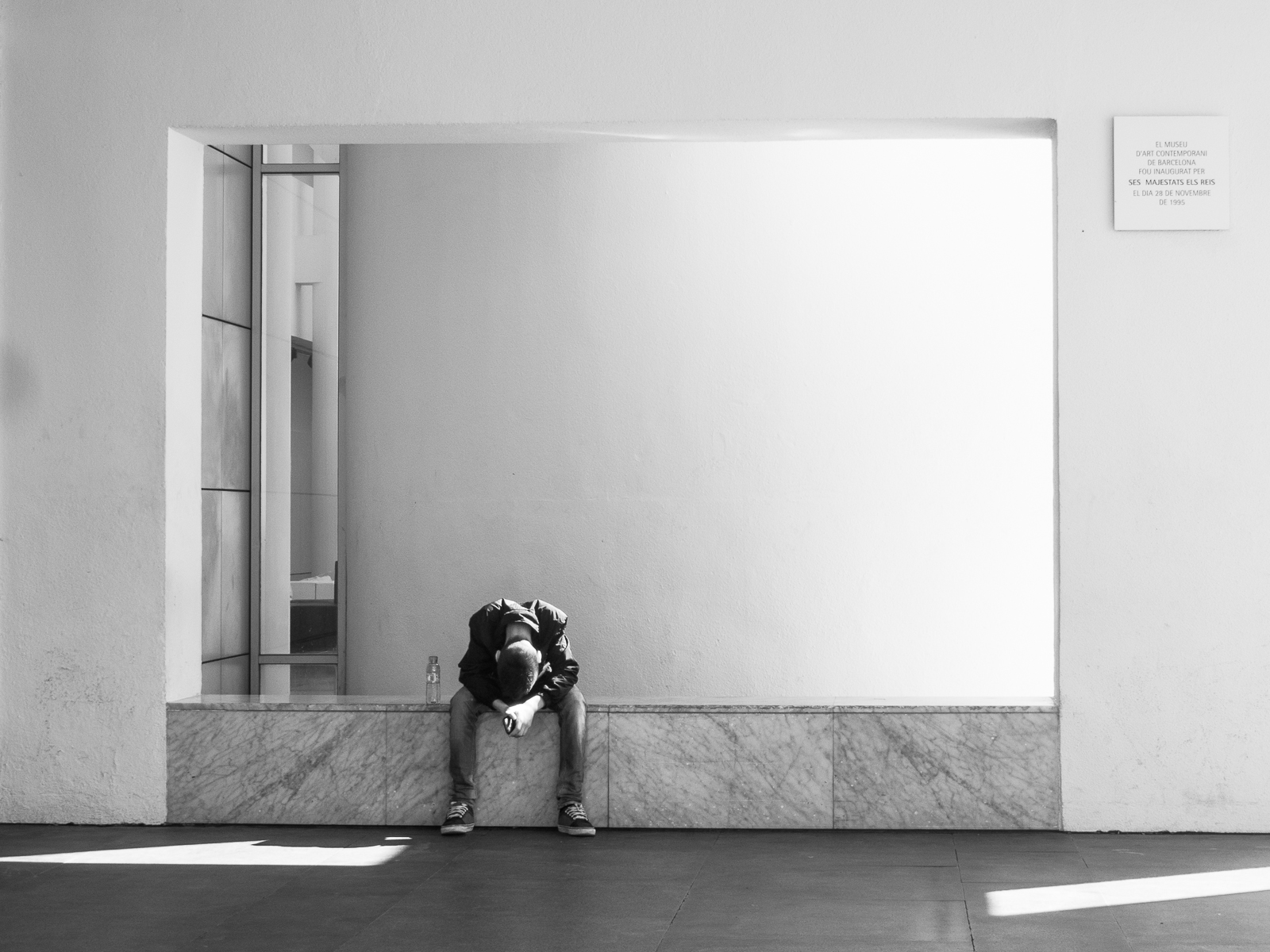 "Asleep at Macba,  Darnell Scott    Digital Photography, 8""x10"""