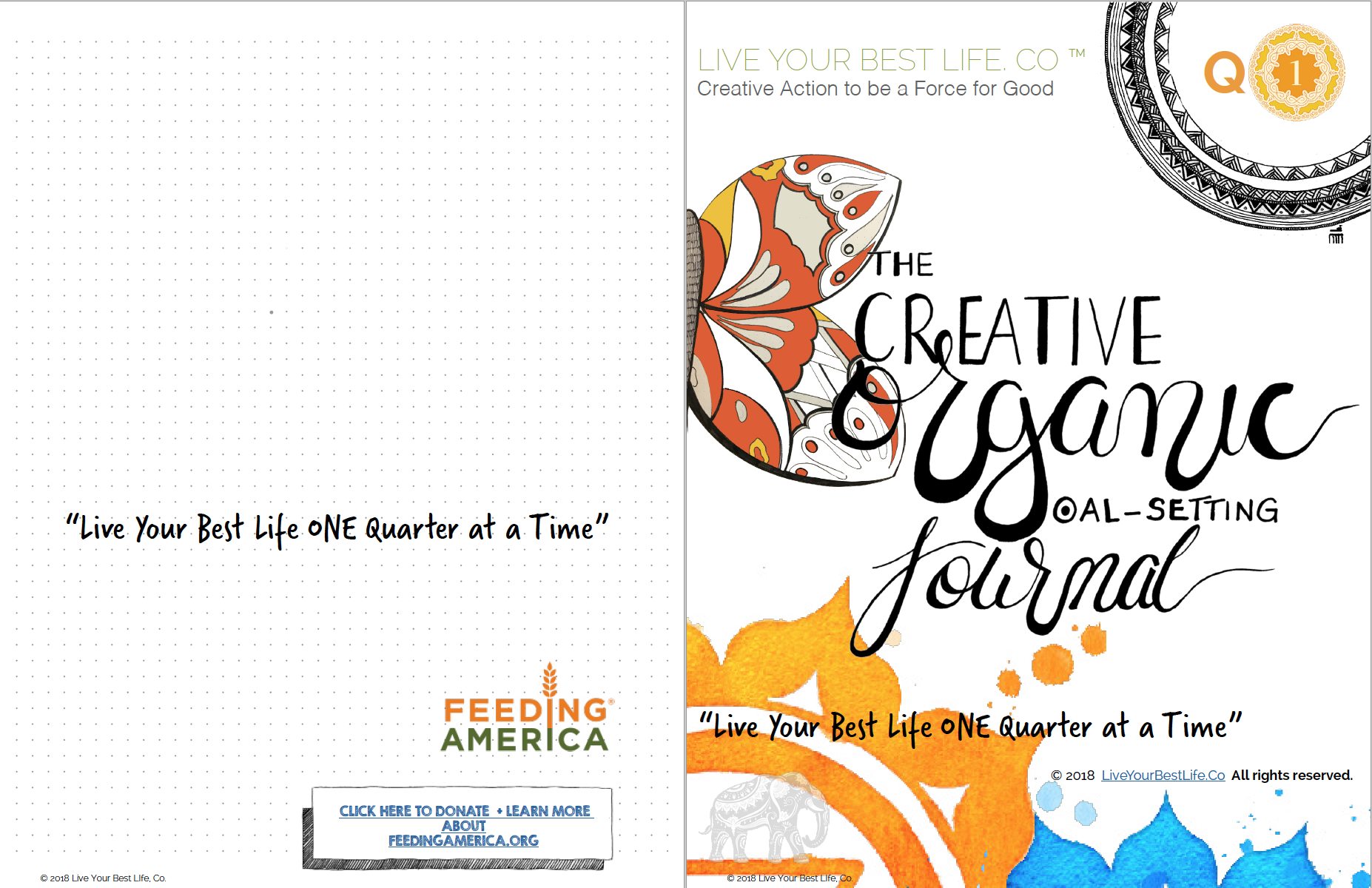 Creative Organic Goal Setting Journal - Live You Best Life One Quarter at a Time 2018 - Q1.png