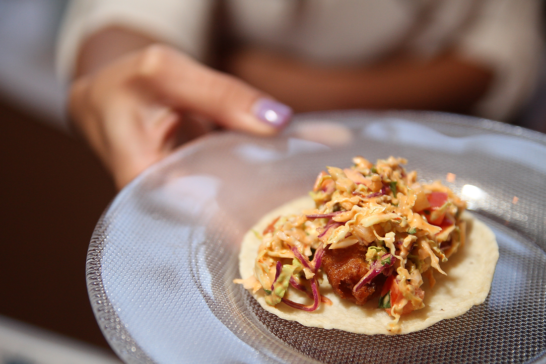 A taco at Restaurant Week, shot for Chicago Sun-Times SPLASH.