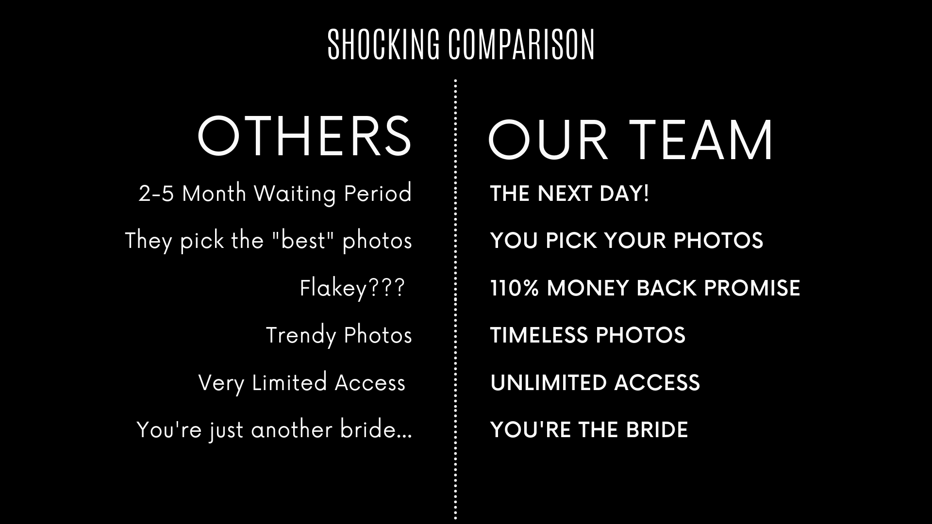 2-5 Month Waiting Period They pick the _best_ photos Flakey___ Trendy Photos Very Limited Access You're just another bride....png
