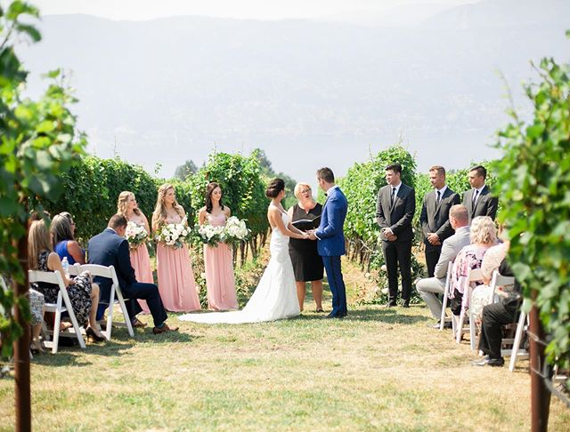 Magic ceremony tucked away in the vineyard. @anewleaffloraldesign @exnihilovineyards @jbweddings