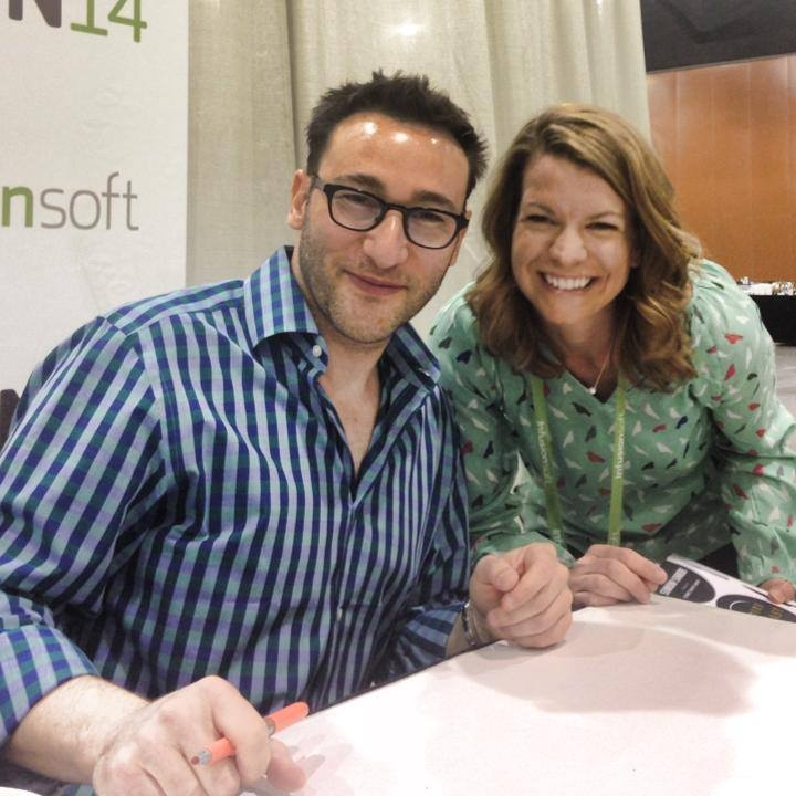 Simon Sinek, author of Leaders Eat Last and Start with Why, and me at the Infusionsoft User Conference back in 2014. I wrote this on a lunch break, and I'm still inspired by those three days!