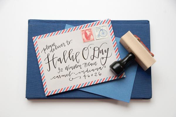 Lettered Life Envelope Calligraphy Black Ink.jpg