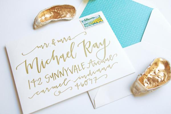 Lettered Life Envelope Wedding Calligraphy - Gold 5.jpg