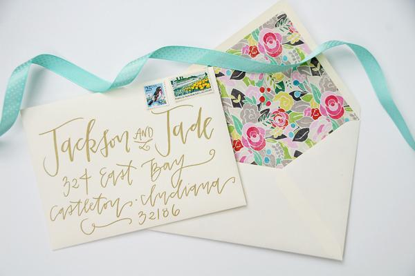 Lettered Life Envelope Wedding Calligraphy - Gold 2.jpg