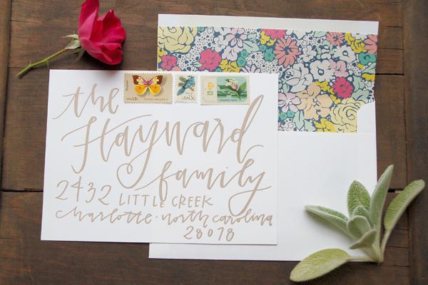 Lettered Life Envelope Wedding Calligraphy Copper2.jpg