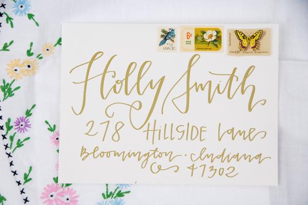 Lettered Life Envelope Wedding Calligraphy Gold 3.jpg