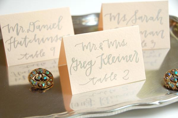 Lettered Life Wedding Calligraphy Escort Card Silver 2.jpg