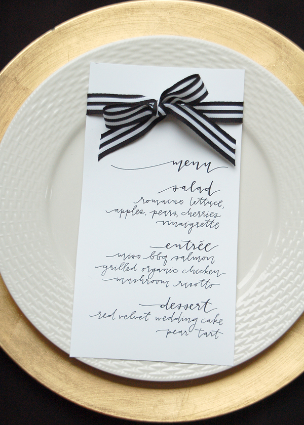 Lettered Life Menu Wedding Calligraphy - Black and White.jpg