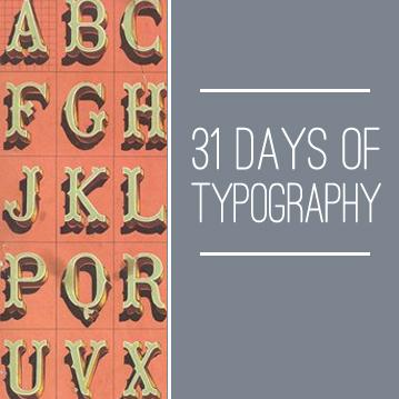 31-days-of-typography