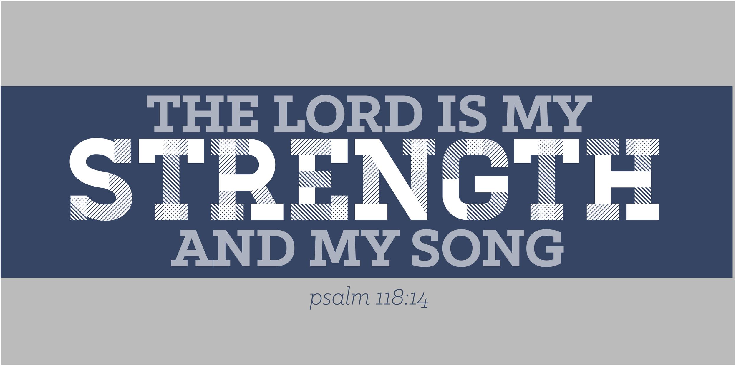 lord is my strength rgb