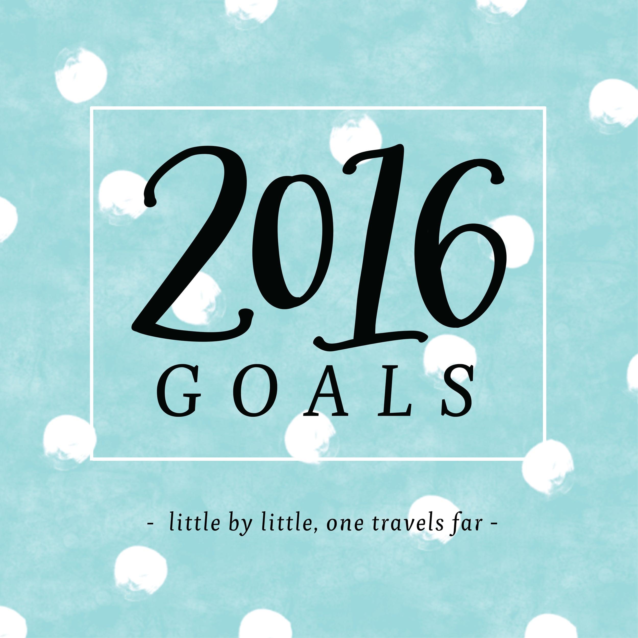 Lettered Life 2016 Goals