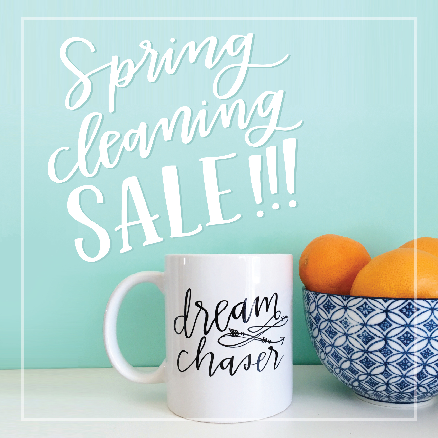Lettered Life Spring Cleaning Sale!