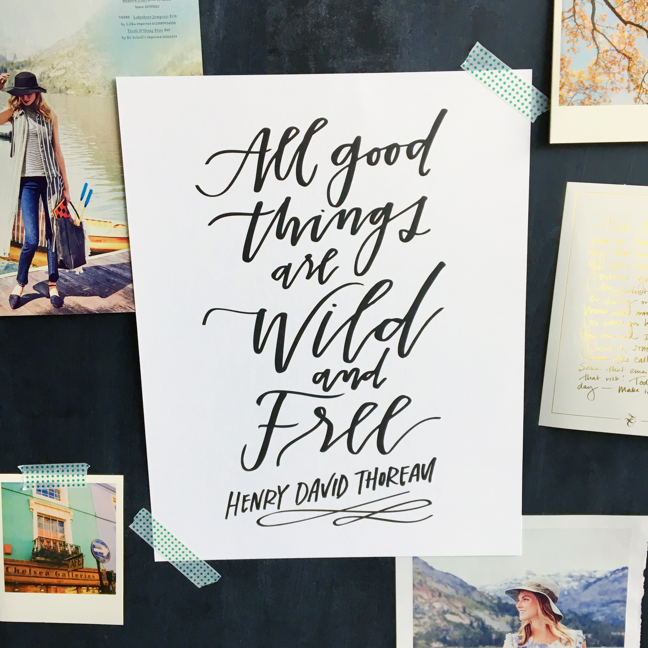 Lettered Life Wild and Free Print