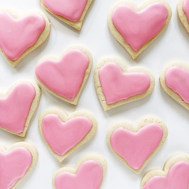 💕💕💕 Heart shaped cookies for a galentine's gathering tonight! Happy {early} Valentine's Day, friends! I hope your week is filled with kindness and reminders of God who is Love!