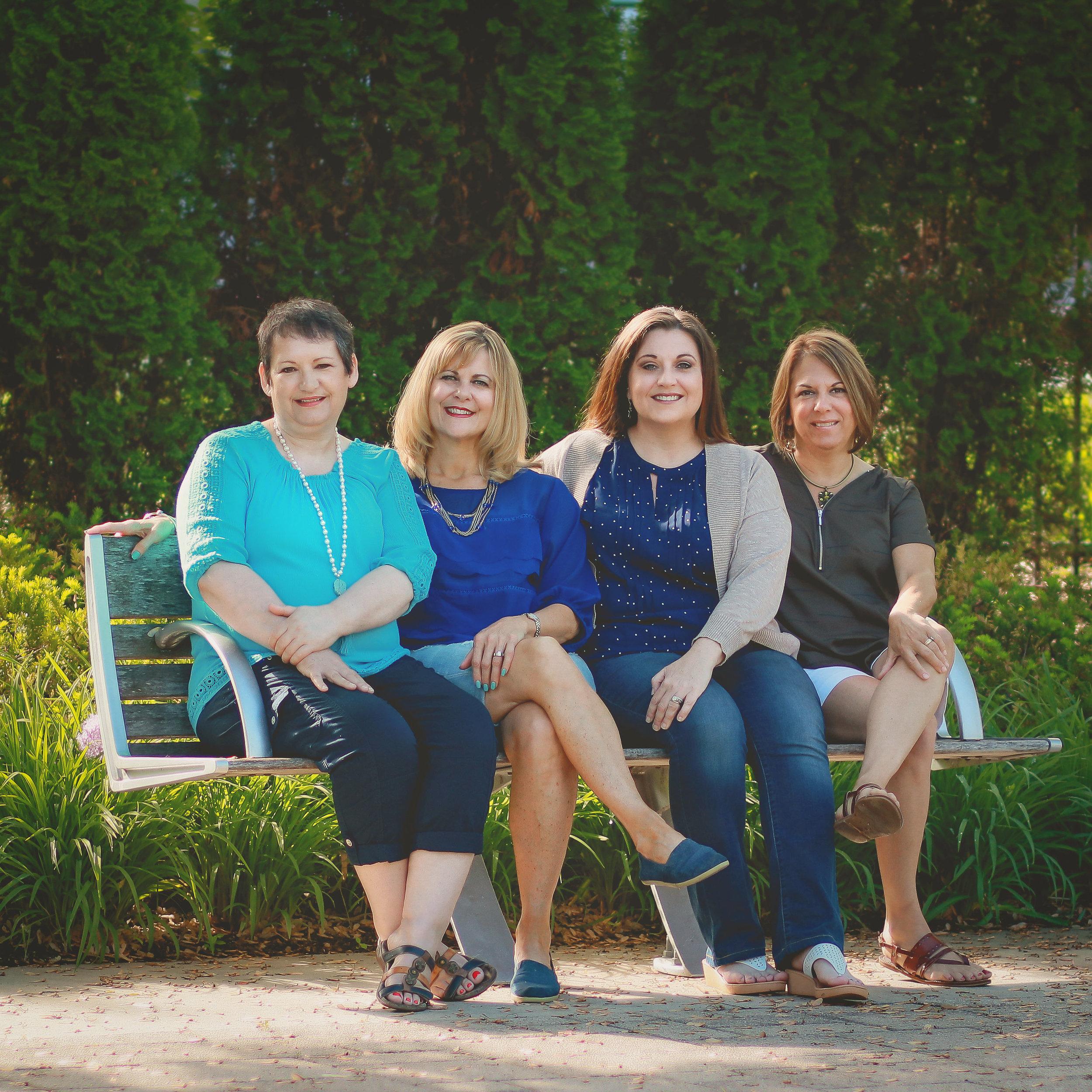 Ministry Team (Left to Right): Lisa Ring, Jenny Spontak, Jess Olivito, Dee Everson